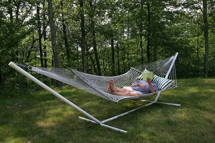 outdoor hammock and stand
